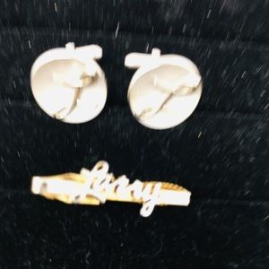 LARRY tie clip and Cuff links